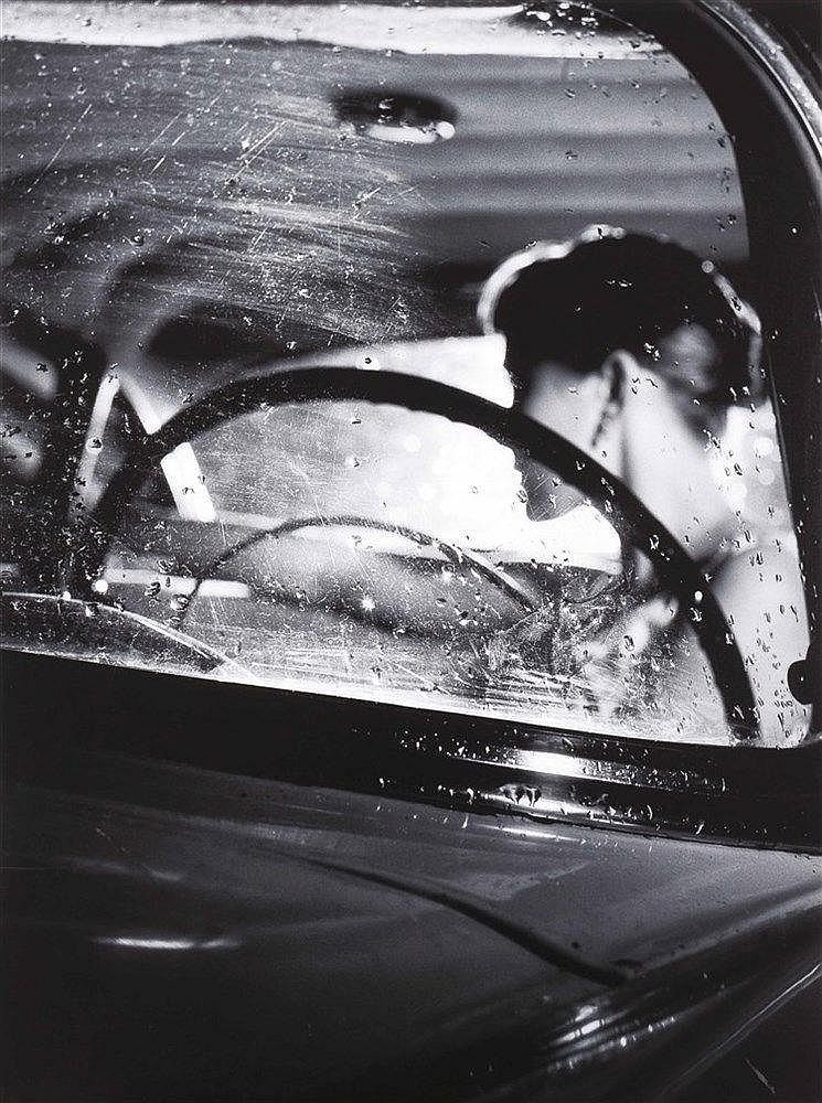 Alain Daussin 1953 - …  « Voiture la nuit » 1986  Tirage baryté 3/12, signature sur son empr