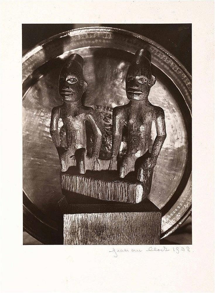 Beat Von Clodt 1910-  L'Afrique dans la Lumière.  Tirage argentique d'époque, signé en bas à