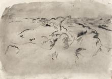ENGLEBERT VAN ANDERLECHT (1918-1961) Composition n°6-54, 1954. Encre