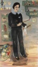 ALICE FREY (1895-1981) La peintre en salopette, 1937. Huile sur toile