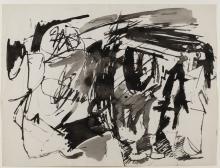 ENGLEBERT VAN ANDERLECHT (1918-1961) Sans titre (n°8), 1957. Encre et