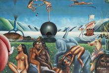 PIERRE BODO (né en 1953) La perversion, 2003. Acrylique sur toile.