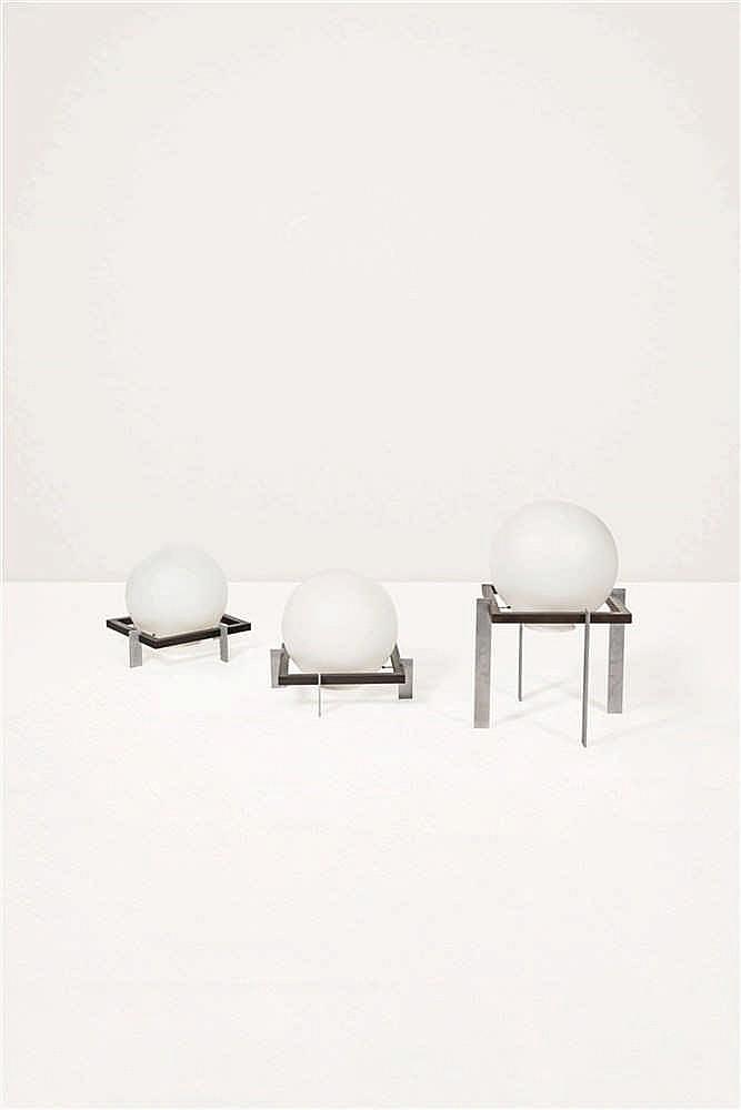 ton a c alberts zodiak paire de lampes de sol verre opalin. Black Bedroom Furniture Sets. Home Design Ideas