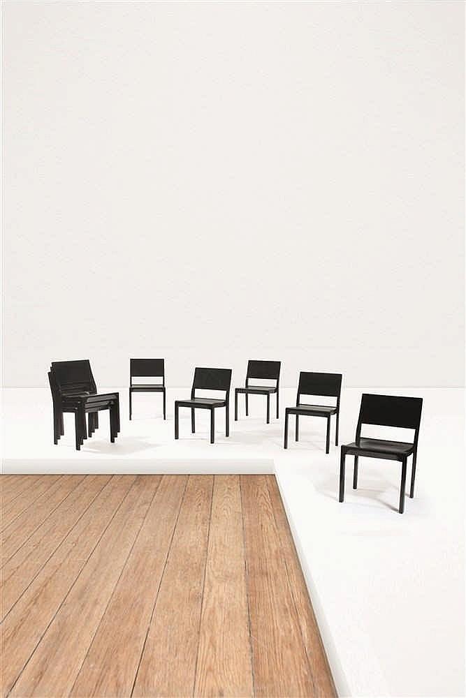 Alvar aalto 1898 1976 silla 11 611 suite de huit chaises e for Chaise alvar aalto