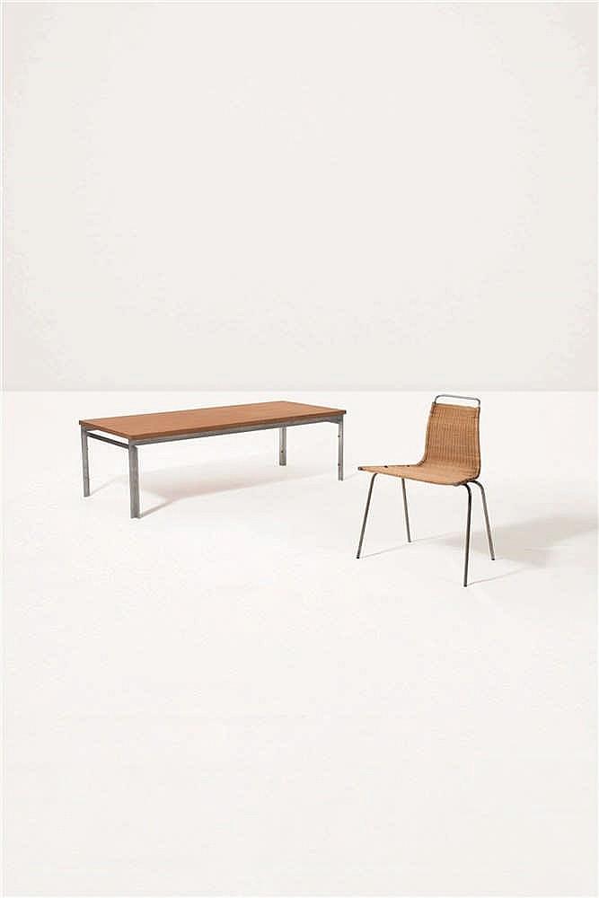 Poul kj rholm 1929 1980 ekc 1 chaise moelle de rotin ac for Lot 6 chaises rotin