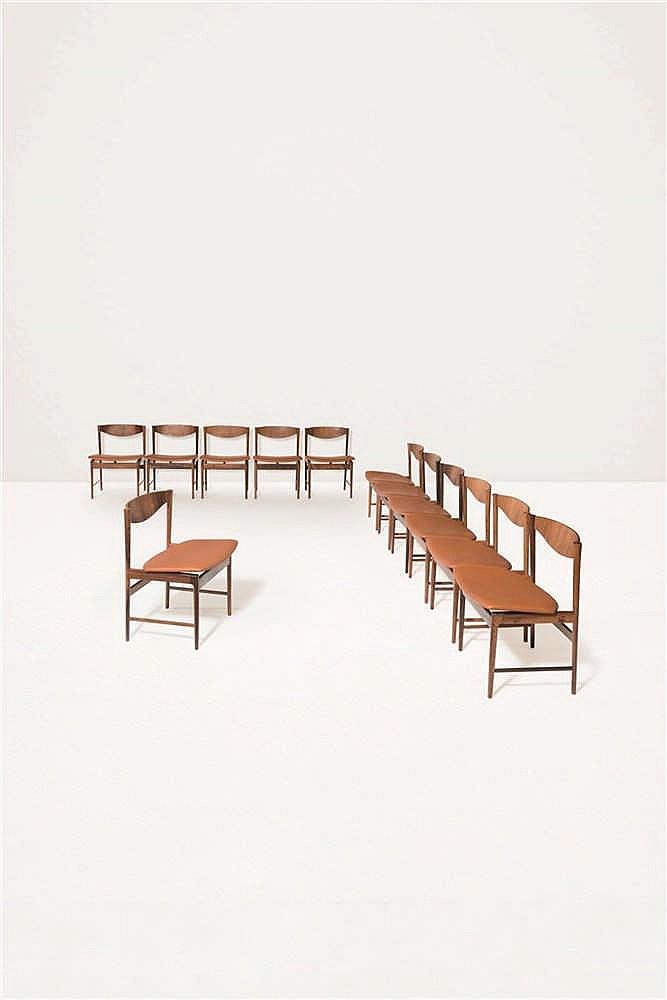 Ib kofod larsen 1922 2003 suite de douze chaises palissand - Chaises design bruxelles ...