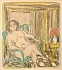 ANDRÉ COTTAVOZ (1922-2012) Femme nue assise, 1974. Lithographe en, André Cottavoz, €30