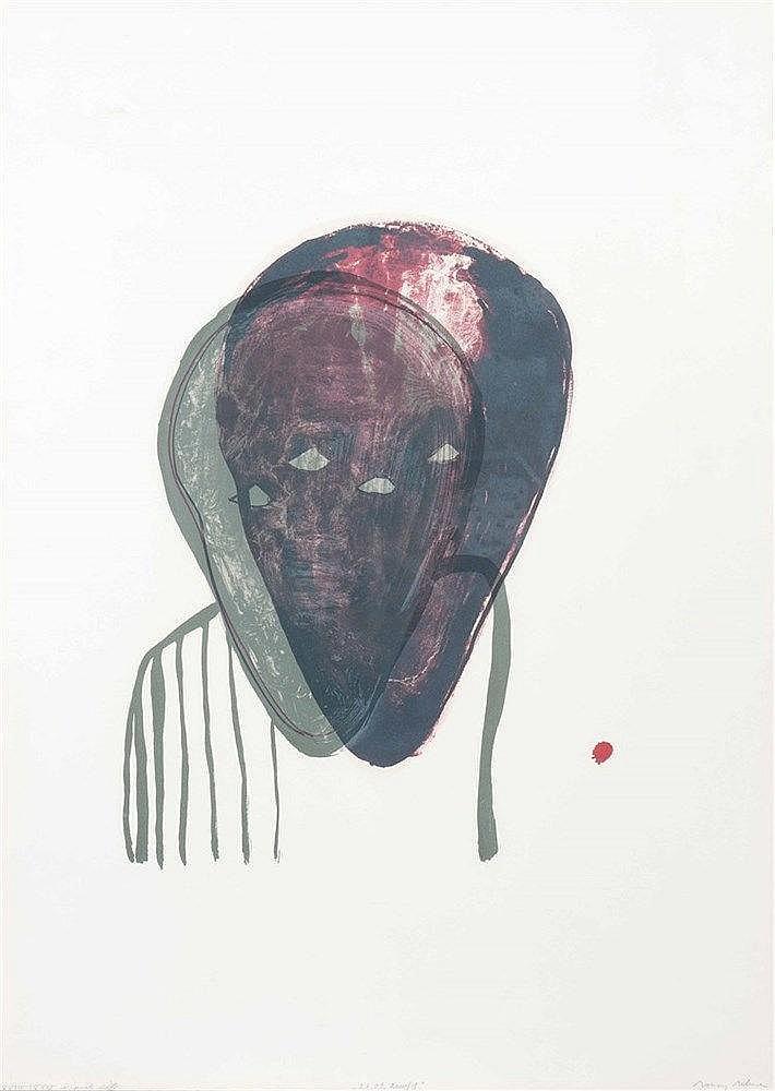 Ronny DELRUE (né en 1957) Sans titre, 2000. Lithographie couleurs