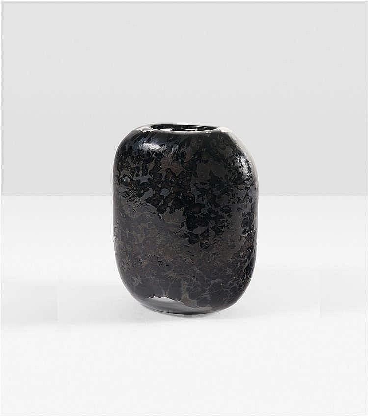 franco deboni n en 1950 magma vase verre souffl et tra. Black Bedroom Furniture Sets. Home Design Ideas