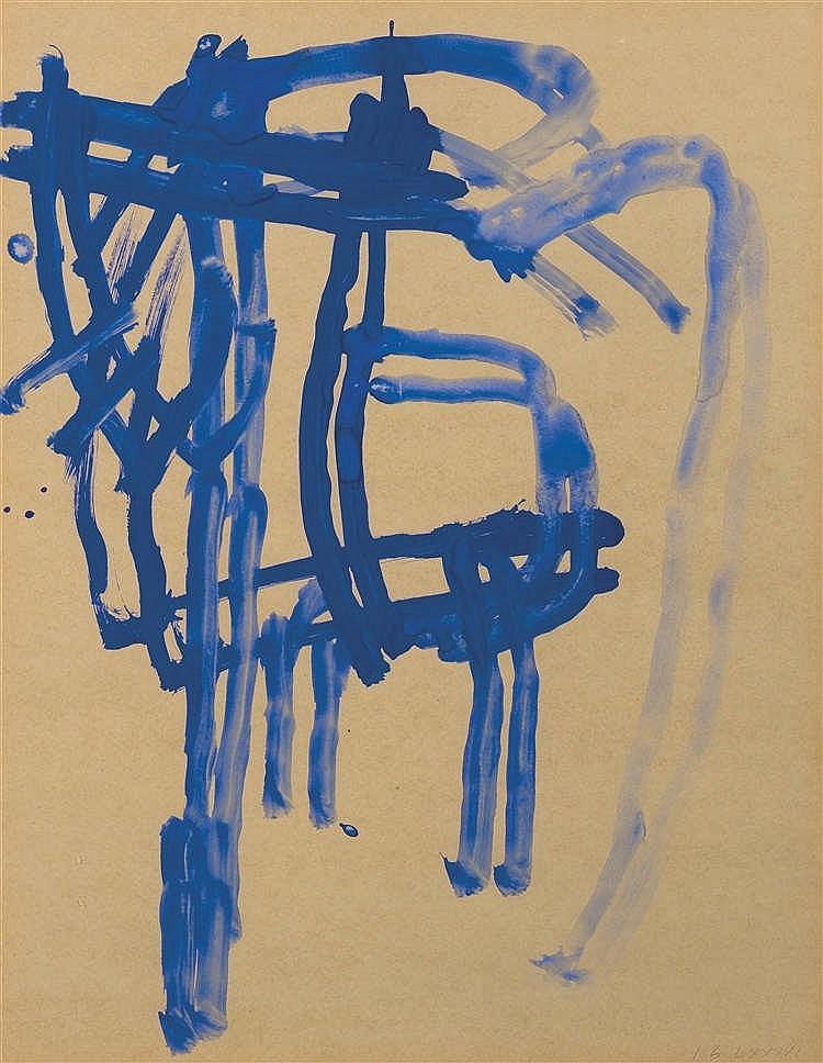 James brown n en 1951 sans titre 1986 peinture sur papie for Peinture sur papier