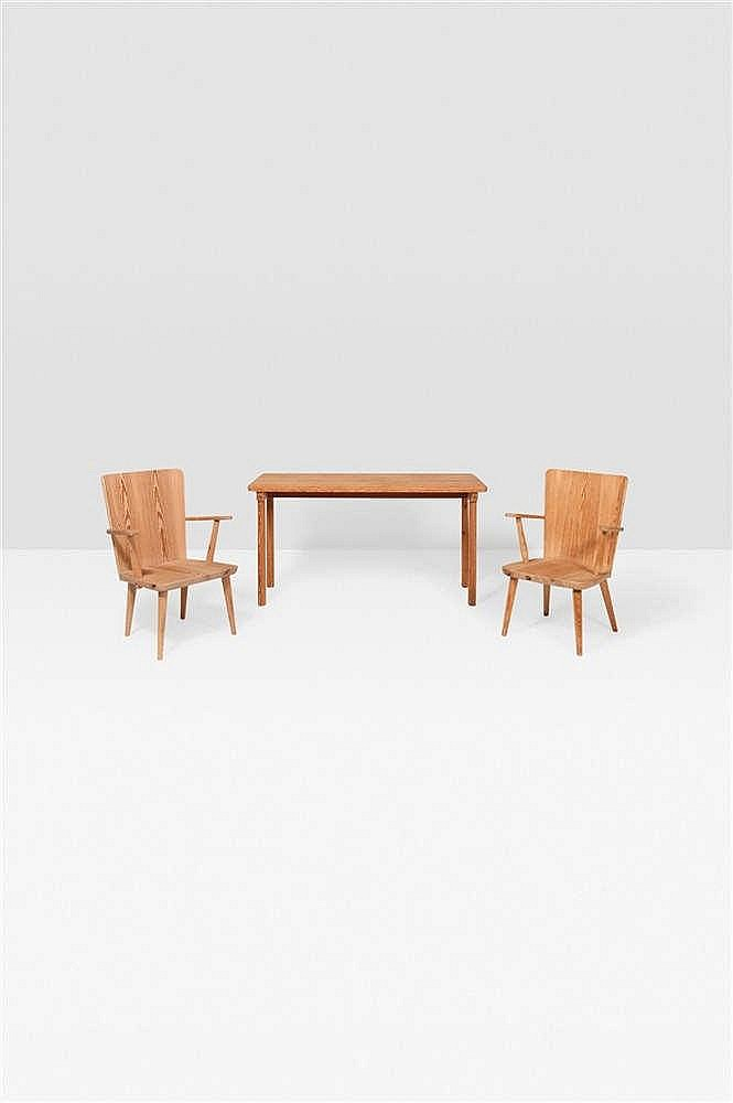 Carl malmsten 1888 1972 table console pin massif estampi - Table console bois massif ...