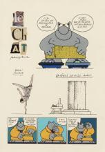 PHILIPPE GELUCK (né en 1954) - Tout mais pas chat, 1990.