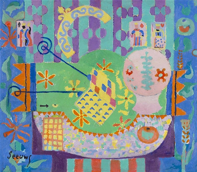 JOS SEEUWS (1912-2003)   Le gaufrier ou Le roi de la fève