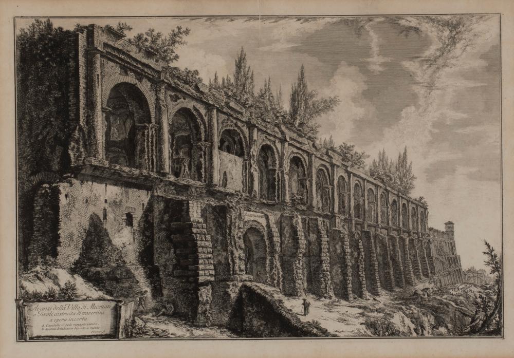 D'APRÈS GIOVANNI BATTISTA PIRANESI (1720-1778) - Avanzi della villa di Mecenate, 1763