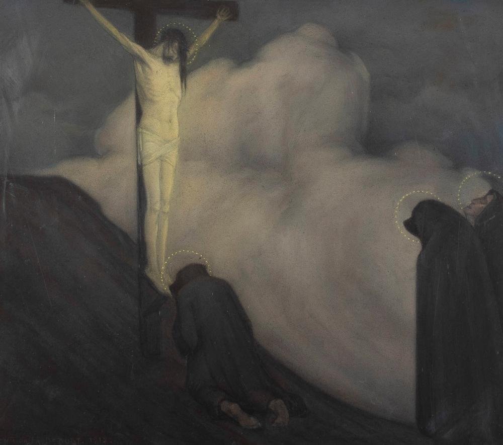 VICTOR FRANS DE BUDT (1886-1965) - L'imploration, 1912