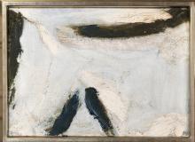 OLIVIER DEBRE (1920-1999) - Argentière au trait rose,1965.
