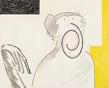ERIK DIETMAN (1937-2002) Modernica, 1983. Aquarelle, gouache et pastel sur