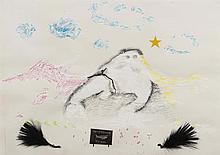 ERIK DIETMAN (1937-2002) Patrouille - patrol, 1975. Acrylique, pastel, min