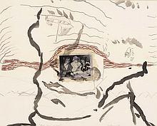 ERIK DIETMAN (1937-2002) Mon ami le fou, 1983. Gouache, pastel, mine de pl