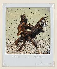 ERIK DIETMAN (1937-2002) Papy et Mamy, 1985. Polaroid, dessin et peinture.