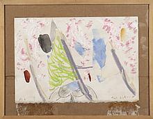 ERIK DIETMAN (1937-2002) Pi Pi, 1980. Gouache et collage sur papier. Signé