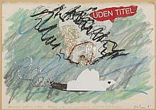 ERIK DIETMAN (1937-2002) Oresund, dimanche le 27/7. Bateau sur l'eau nanai