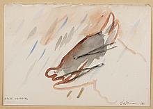 ERIK DIETMAN (1937-2002) Nolde Nounours, 1980. Gouache et collage d'allume