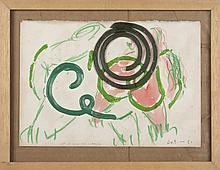 ERIK DIETMAN (1937-2002) Pi Pi et Ca Ca dans la pinède, 1984. Acrylique, p