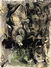 GEORGES HUGNET (1906 - 1974) Décalcomanie, circa 1946. Huile et gouache su