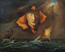 Marc Eemans (1907-1998) Arnolfini par tempête en mer, 1970 Huile sur toile