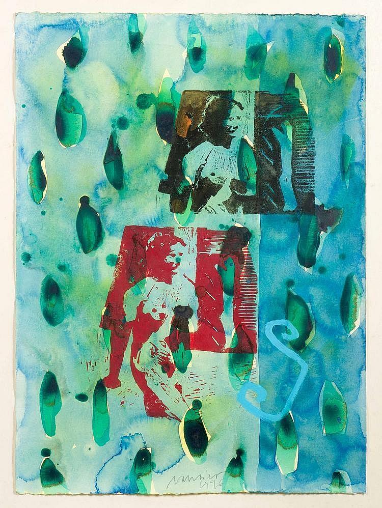 Jan VAN RIET (né en 1948)  Sans titre, 1996.