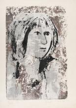 PIERRE PASTEELS (1936-1977) - Jeune fille, 1963. - Sérigraphie en couleurs. Signée et num