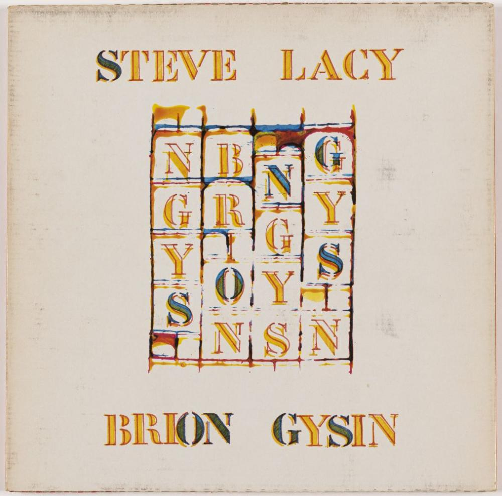 BRION GYSIN (1916-1986) - Steve Lacy & Brian Gysin, 1981. - Pochette illustrée par - Brion