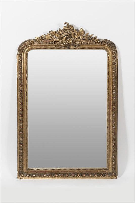 Miroir de forme circulaire en bois et stuc dor d cor de g for Miroir circulaire