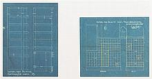 HUIB HOSTE (1881-1957) 4 plans de construction