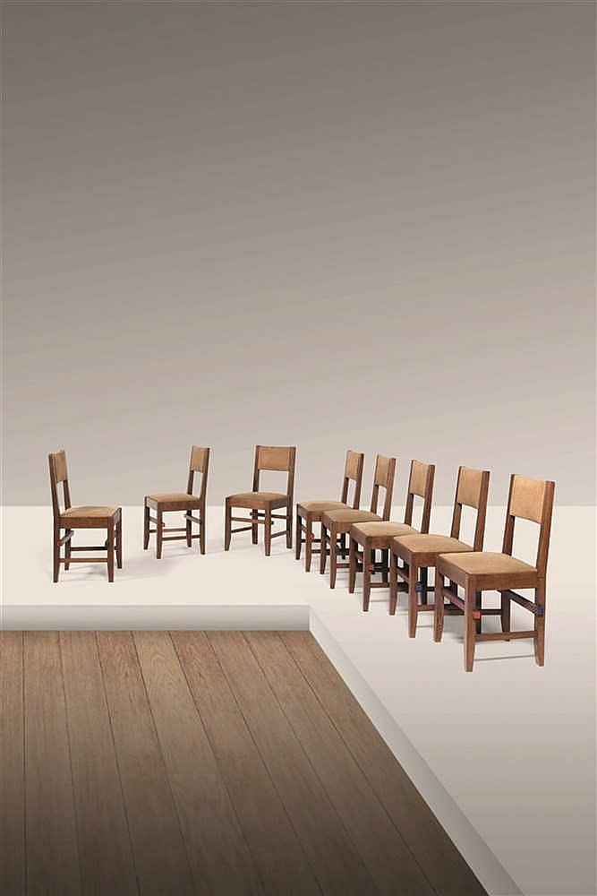 Huib hoste 1881 1957 ensemble de salle manger constructi for Ensemble table a manger et chaises