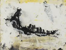 """KAREL DIERICKX (né en 1940) """"Composition, 1989."""" Technique mixte. Feuil"""