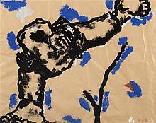 JEAN-CHARLES BLAIS (né en 1956) Sans titre, 1985  Gouache sur papier.  Sign