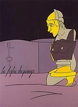 VALERIO ADAMI (né en 1935)  La Figlia Che Piange - T.S.Eliot, 1980-1981  Ac