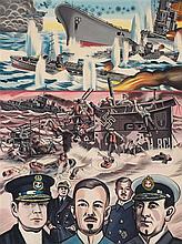 ERRO (né en 1932)  Opération Preussen, 1977  Jutland 31 May 1916 Vice Admir