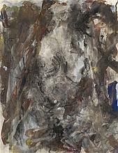 EUGÈNE LEROY (1910-2000) Sans titre. Gouache et fusain sur papier.  Signé e