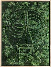 JAN FABRE (né en 1958)  The Mask, 2010  Technique mixte . Ailes de coléoptè