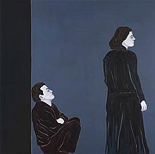 DJAMEL TATAH (né en 1959)  Sans titre, 2006.  Huile et cire sur toile.  Sig