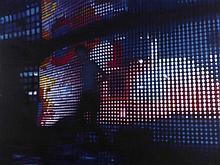 SHURUI LI (née en 1981)  Lights No.2, 2006.  Acrylique sur toile retouchée