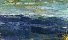 MICHEL FRERE (1961-1999)  Sans titre, 1996  Huile sur papier marouflé sur t