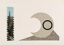 JIRI KOLAR (né en 1914-2002)  Le lever de soleil à Berlin, 1979  Collage su