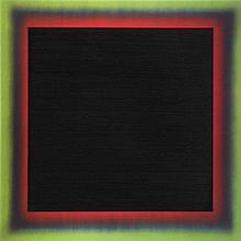 FRANK GERRITZ (né en 1964)  Black inside Red inside Green, 2005.  Huile sur