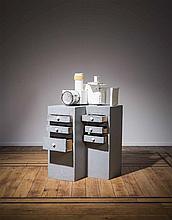 JUSTIN LIEBERMAN (né en 1977) Projector House, 2011. Technique mixte. Boi