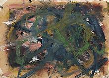 ARNULF RAINER (né en 1929)  Sans titre, 1980,  Série : Chaotische Malerei.