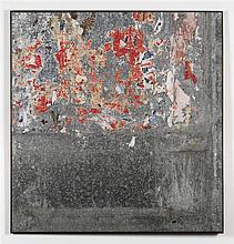 RAYMOND HAINS (1926 - 2005)  Sans titre, 1976  Affiches lacérées sur tôle.